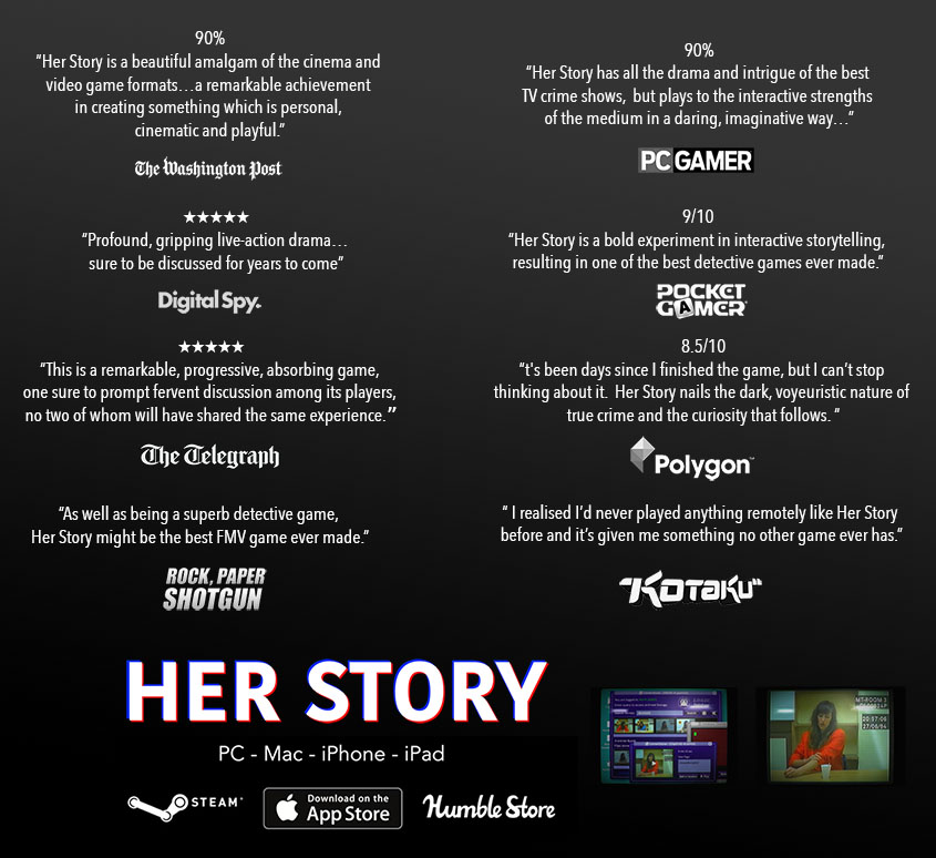 A Video Game About a Woman Talking to the Police - HER STORY